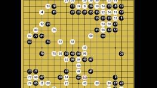 囲碁棋譜再現 第63回NHK杯テレビ囲碁トーナメント戦1回戦 黒:金沢真 vs 白:秋山次郎