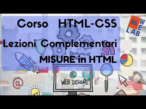 Corso Di HTML E CSS - Le Misure In HTML