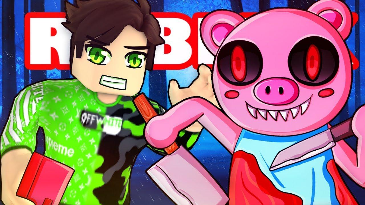 Itsfunneh Roblox Piggy Mall We Escaped Roblox Piggy Youtube