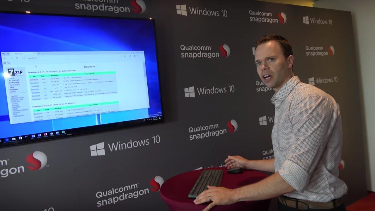 Full Windows 10 on ARM 64bit 10nm Qualcomm Snapdragon 835