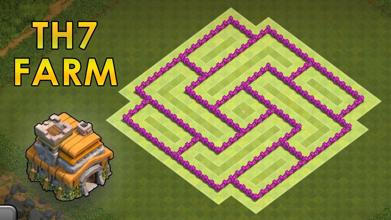 Th7 farming base best town hall 7 hybrid base th7 2016 youtube