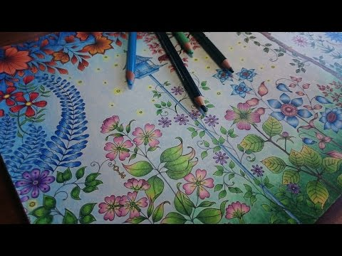 Coloring the Secret Garden Part 3 - How to color a Background