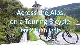 Across the Alps on a Touring Bicycle - Day 2 Highlights (Fuessen to Lake Garda)