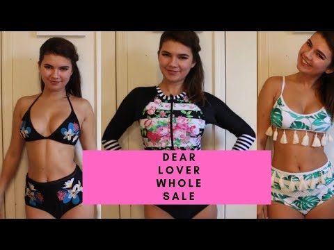 PERFECT 10/10 RASH GAURD?! | DEAR LOVER WHOLESALE BIKINI HAUL! from YouTube · Duration:  15 minutes 19 seconds
