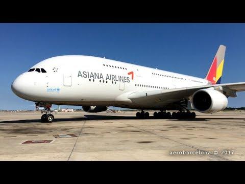 [FULL HD] Asiana Airlines A380-800 Barcelona-El Prat