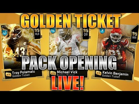 TRYING TO PULL GOLDEN TICKETS!! Madden 20 Ultimate Team