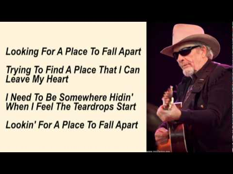 Merle Haggard - A Place To Fall Apart with Lyrics