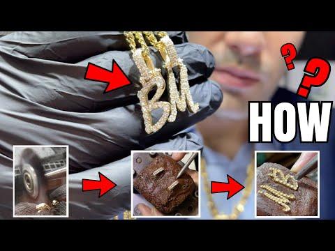 HOW It's Made ? : VS Diamond Custom Gold Pendant  !