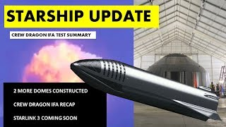 SpaceX Starship Updates I Crew Dragon In-Flight Abort Test Summary I Next Starlink Launch