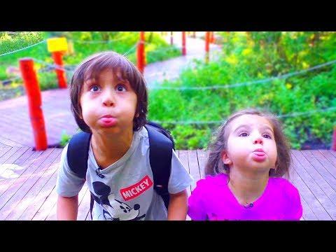 Дети Сами ПРИДУМАЛИ РАЗВЛЕЧЕНИЕ! Камиль и Аминка УСТРОИЛИ ПЕРЕПОЛОХ в Парке! Для детей kids children - Как поздравить с Днем Рождения