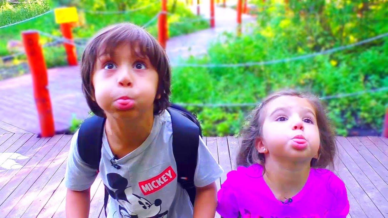 Дети Сами ПРИДУМАЛИ РАЗВЛЕЧЕНИЕ! Камиль и Аминка УСТРОИЛИ ПЕРЕПОЛОХ в Парке! Для детей kids children