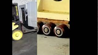 HEAVY DUTY 20,000 LB. EA. 3 AXLE MACHINERY MOVING SKATES