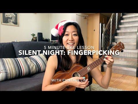 Silent Night: Intro to Fingerpicking // Easy Holiday Ukulele Lesson #5minuke