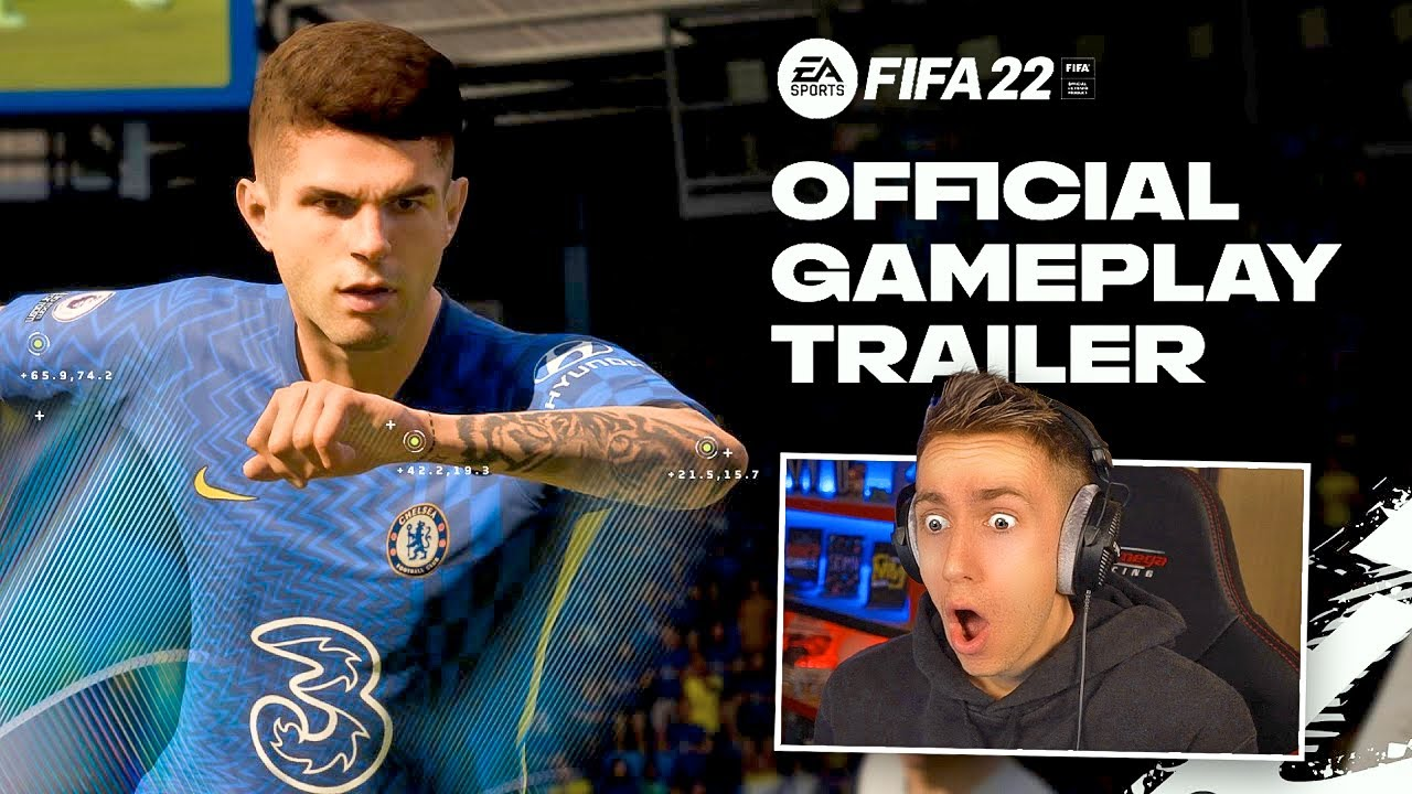 Live Reaction To The FIFA 22 Official Gameplay Trailer