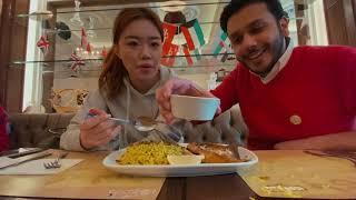 🇨🇳 صينية تجرب الاكل الكويتي مع عبدالرحمن الدين - Chinese trying Kuwaiti food with Abdulrahman 🇰🇼