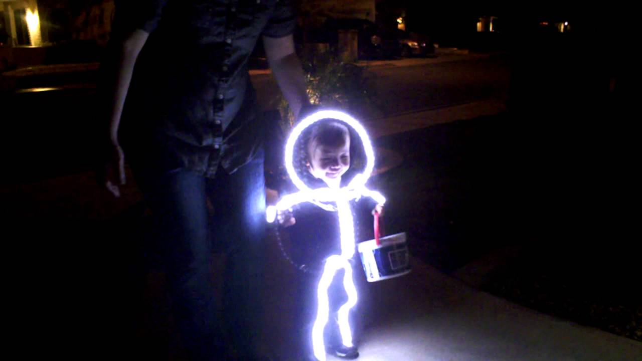 More Of Maysen S Led Stick Man Costume Trick Or Treating