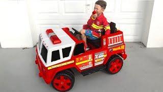 Senya Pretend Play a Fireman.