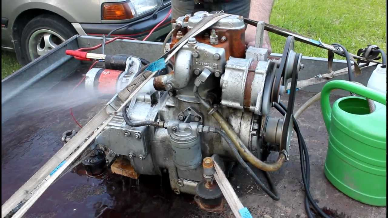 Bmw D12 1 Cylinder Marine Engine Startup Youtube