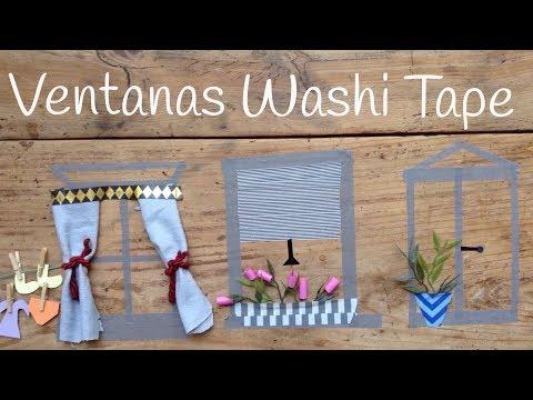 Ventanas de wahi tape, ideas originales para niños
