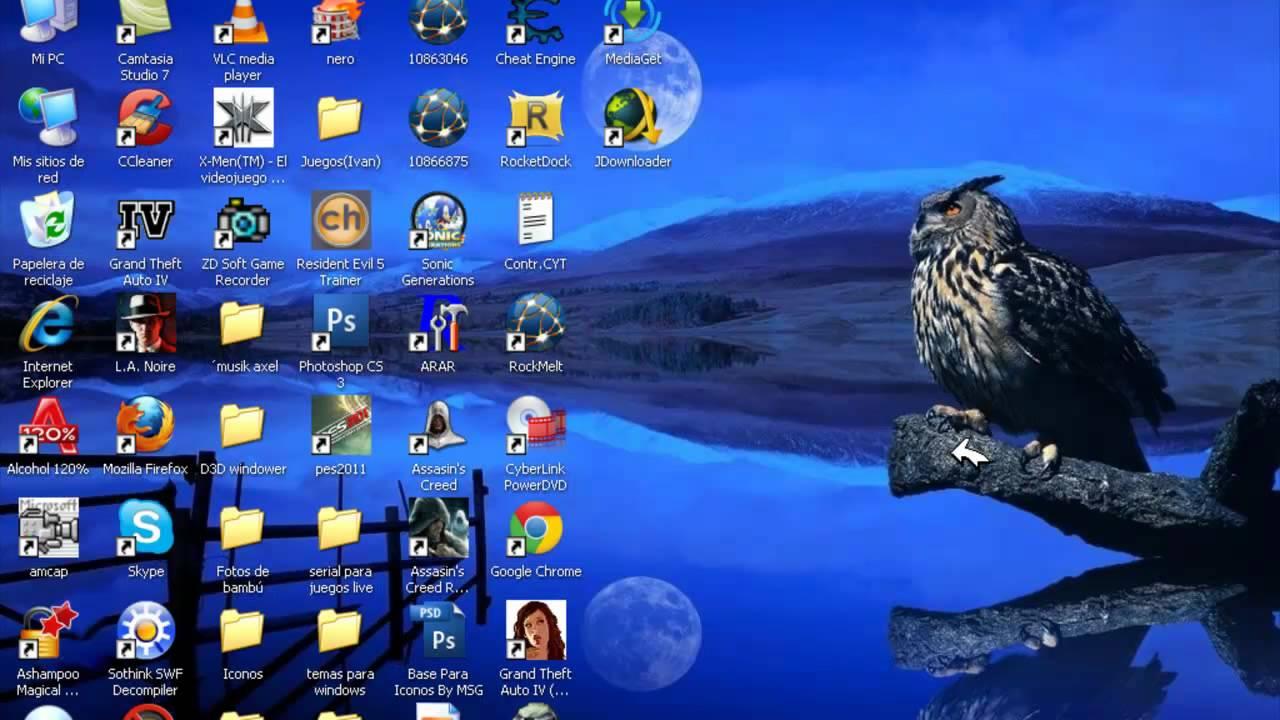 Como poner los iconos grandes del escritorio en windows xp - Iconos para escritorio windows ...