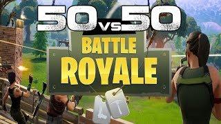 Fortnite Battle Royale : 50 vs 50 is CRAZY!