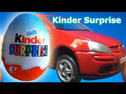 Kinder Surprise: Opening a surprising Golf GTI Car