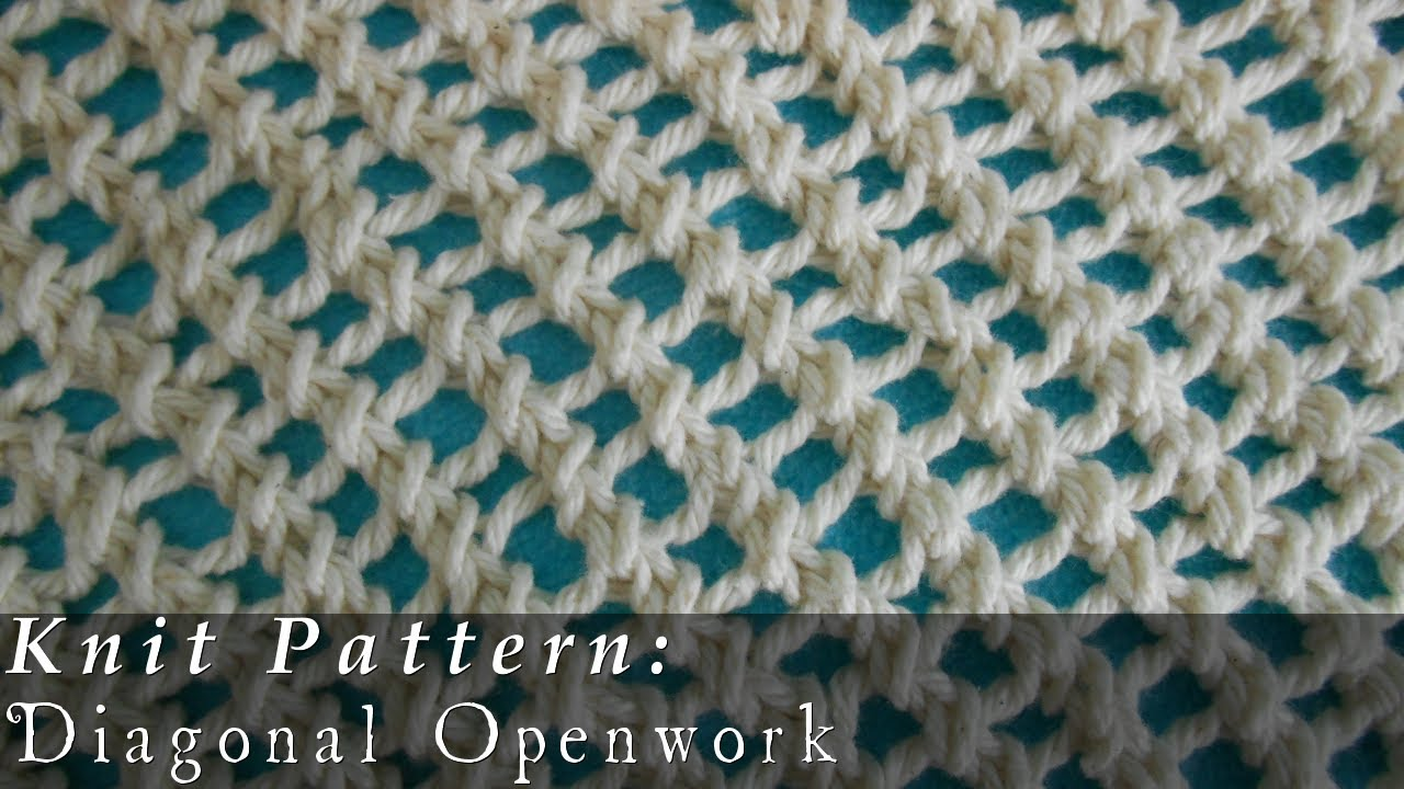 Knitting Stitches That Wonot Curl : Diagonal Openwork { Knit } - YouTube