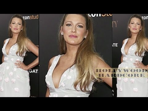 Blake Lively Flaunts Cleavage In Mini Dress At Cafe Society Premiere