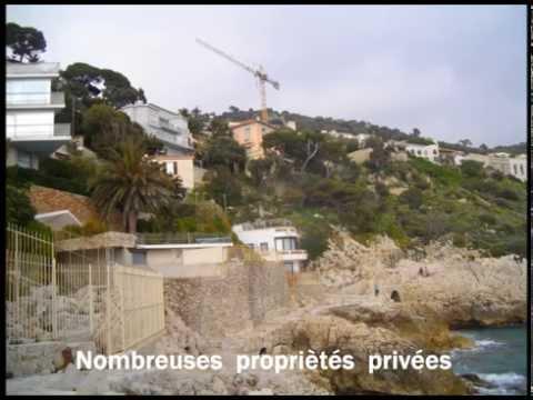 sentier littoral coco beach cap de Nice