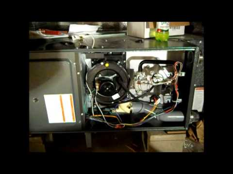 Gas piping a 90% horizontal furnace - YouTube