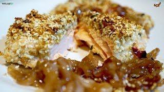 443 - Salmone gratinato in crosta di sesamo croccante...poi ti senti un gigante! (secondo leggero)