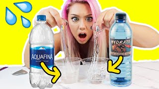 What WATER Makes The MOST CRYSTAL CLEAR SLIME?! * SHOCKING RESULTS*