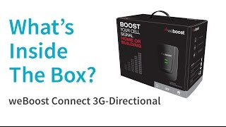 What's Inside The Box? | weBoost Connect 3G Directional 472205 Signal Booster Kit