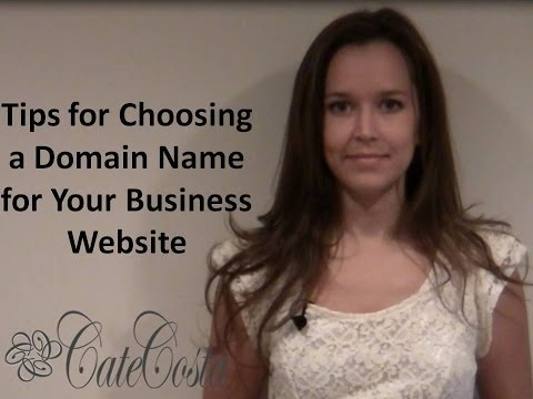 Tips for Choosing the Right Domain Name for Your Business' Website