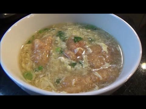 Egg Drop Soup with Pork Rinds - ซุปไข่ใส่แคปหมู