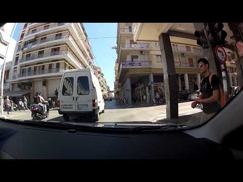 Zarouchleika to CEID (City of Patras - city driving, Greece) - onboard camera