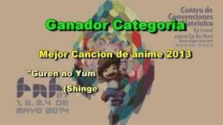 Premios a lo mejor del Anime, Videojuegos, Fantasia y SCIFI TNT Awards 2014