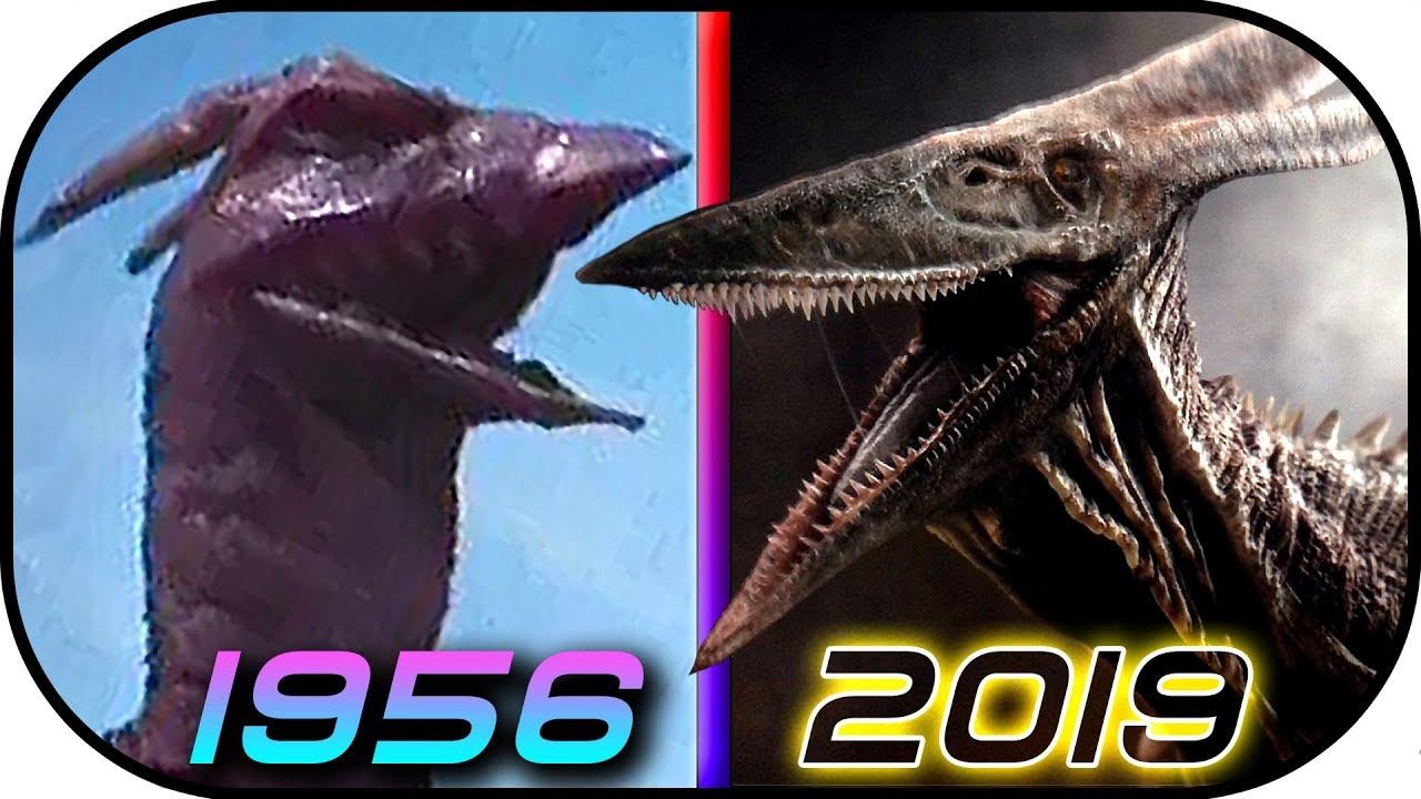 evolution of rodan in movies tv 1956 2019 godzilla king of the