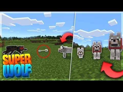 HOW TO MAKE A SUPER DOG IN MINECRAFT PE!! - My Wolf Addon - Minecraft PE (Pocket Edition)