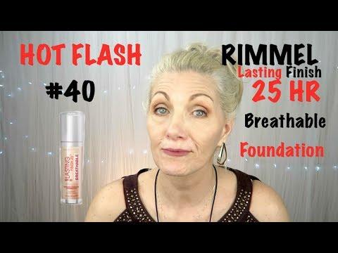 HOT FLASH Makeup! #40 - Rimmel Lasting Finish Foundation