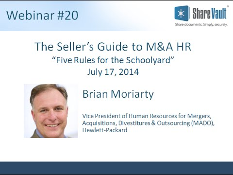 The Sellers Guide to M and A HR
