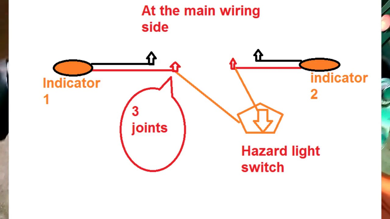 hazard light on any bike diy diy on fz16 [ 1280 x 720 Pixel ]