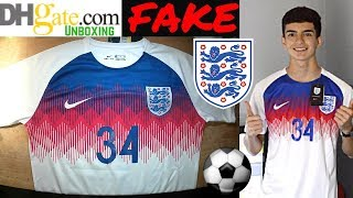 Fake ENGLAND 2018 World Cup Jersey unboxing⚽🔥pre match kit DHGATE