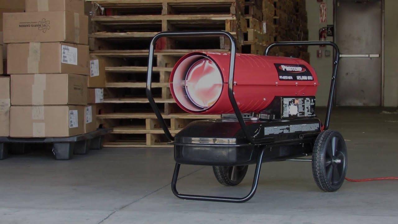 Protemp Kerosene Diesel Forced Air Heater Youtube