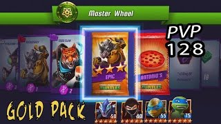 TMNT Legends PVP 128 (Leonardo Legend & Leonado The Movie With Karai & Karai Serpent) Gold Pack