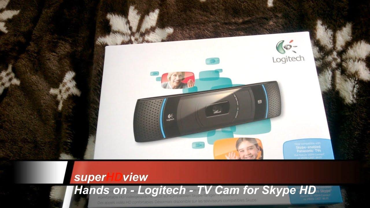 Logitech TV Cam for Skype Hands on - deutsch- [Super HD View]