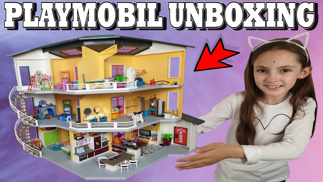 playmobil unboxing l extension de la maison moderne 6554