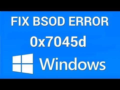 How to Fix Stop Error 0x8007045d
