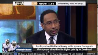ESPN First Take   Dez Bryant or DeMarco Murray   Higher Priority For Dallas Cowboys