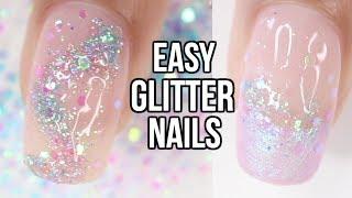 5 EASY Glitter Nail Ideas | Part 1- Mermaid Glitter